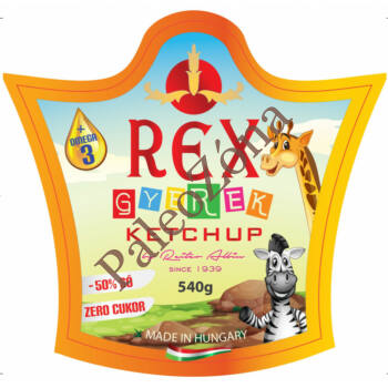 Ketchup gyerekeknek cukormentes 540g - REX