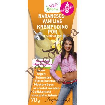 Narancsos vaníliás krémpudingpor 70g-Szafi