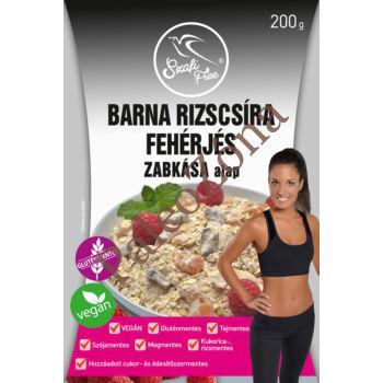 Barna rizscsíra fehérjés zabkása alap 200g - Szafi Free