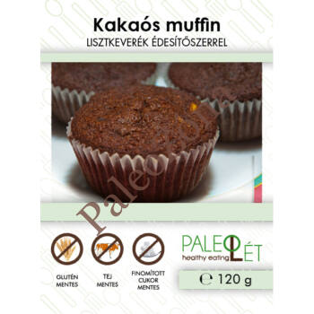 Kakaós muffin lisztkeverék 120g - Paleolét