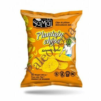 Plantain (főzőbanán) chips natur édes 75g - Samai