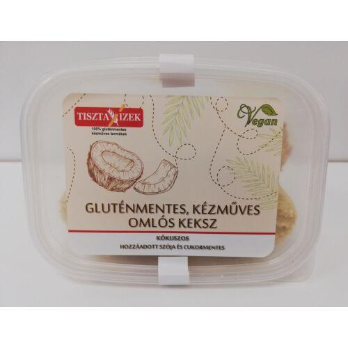 Gluténmentes Kézműves Kókuszos omlós keksz 180g-Tiszta Ízek