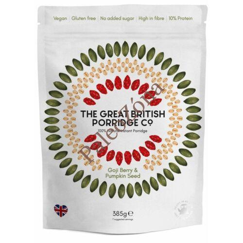 Instant  GM Zabkása goji&tökmag 385g- The Great British Porridge co