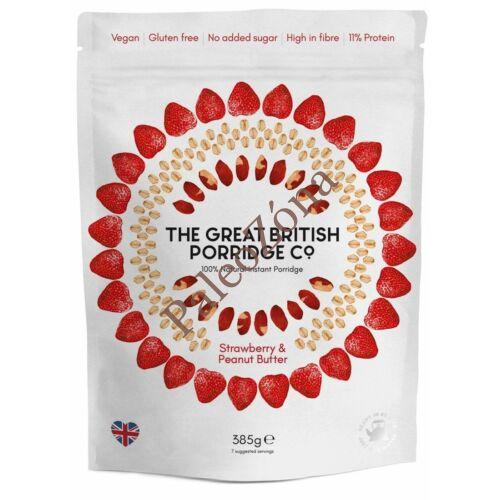Instant  GM Zabkása eper&mogyoróvaj 385g- The Great British Porridge co