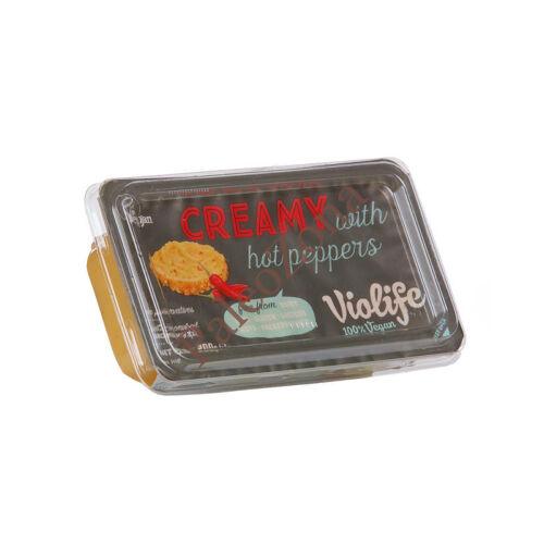 Violife creamy csípős paprikás 200g növényi krémsajt