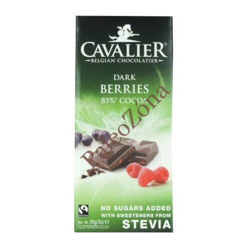 Étcsokoládé bogyós gyümölcsökkel 85g Cavalier