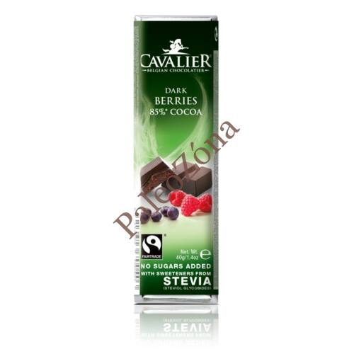 Étcsokoládé bogyós gyümölcsökkel 40g Cavalier