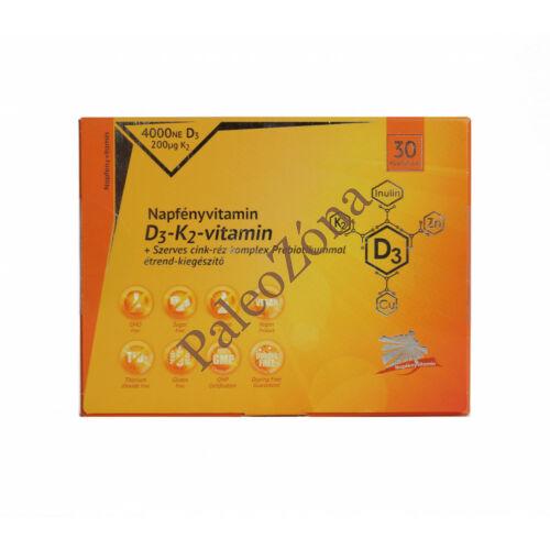 D3+K2+szerves cink+réz komplex 30db-Napfényvitamin