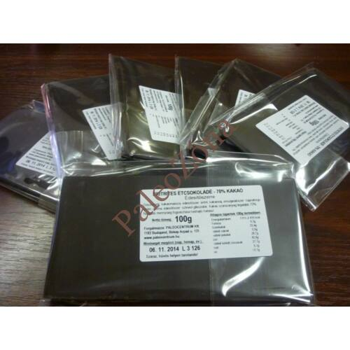 Eritrites Étcsokoládé tábla 100g - 70% kakaó Paleolit