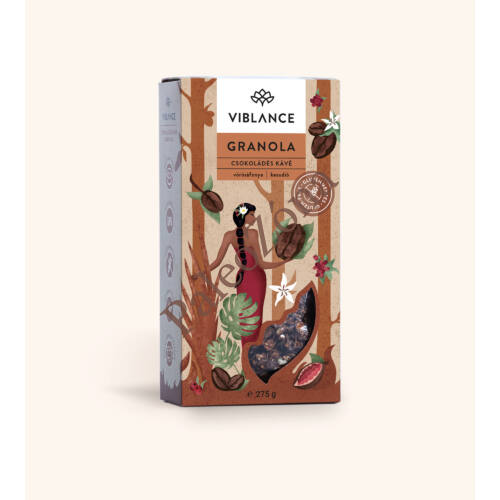 Csokoládés kávés granola 275g - Viblance