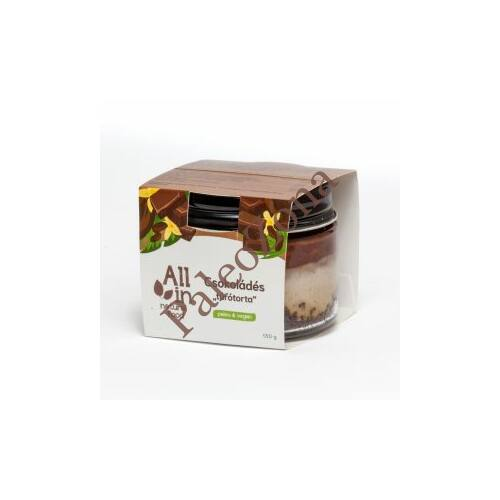 Csokoládés krémtorta 130g -ALL IN natural food