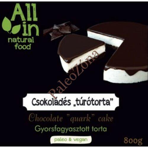 Fagyasztott Csokoládés krémtorta 800g-ALL IN natural food