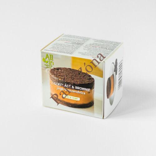 Csokoládé & brownie jégkrémszendvics 160g - All In