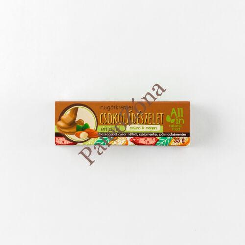 Nugátkrémes Csokoládészelet 35g - All In  natural food