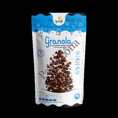 Étcsokoládé-törökmogyoró Granola  növényi fehérjével és szteviával 275g - GabiJó