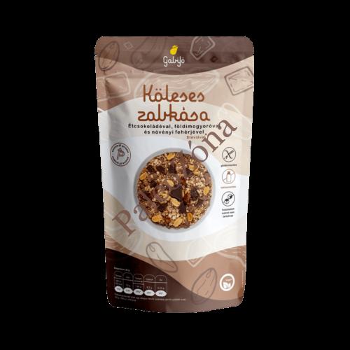 Köleses zabkása étcsokoládéval, földimogyoróval és növényi fehérjével steviával 275g - Gabijó
