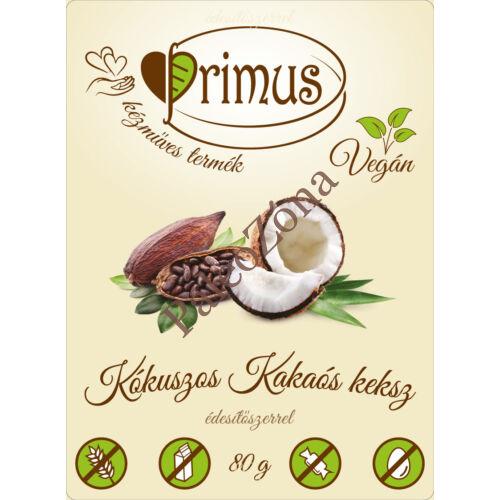 Kakaós-kókuszos keksz 80g - Primus