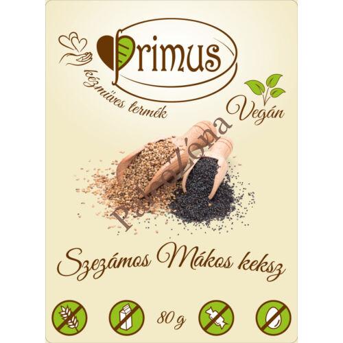 Szezámos-mákos keksz 80g - Primus