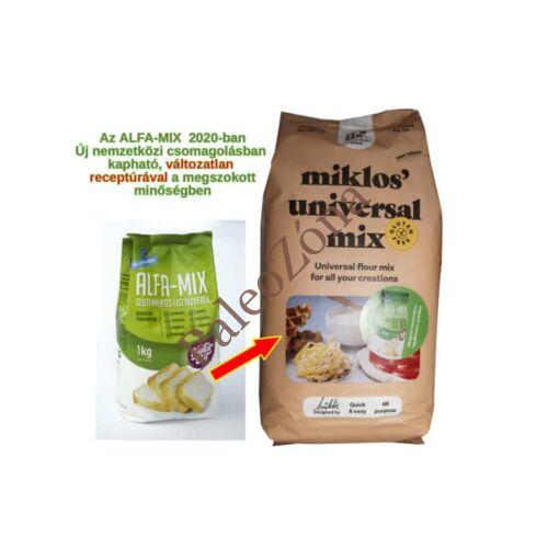 Alfa-Mix lisztkeverék 1kg - Naturbit ÚJ NÉVEN Its us Miklos