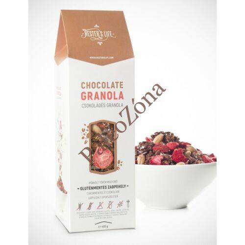 Chocolate Granola csokoládés 320g GM - Hester's Life