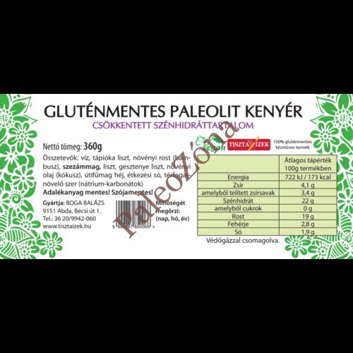 Gluténmentes Paleolit kenyér 340g szeletelt - Tiszta Ízek