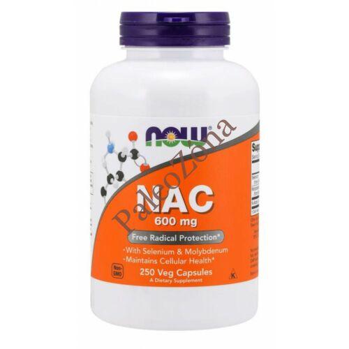 NAC 600mg 250 caps-NOW