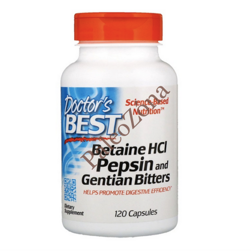 Doctor's Best Betaine HCL Pepsin & Gentian Bitters 120db -