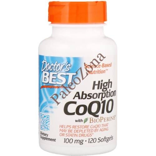 High Absorption CoQ10 100mg 120db- Dr Best`s