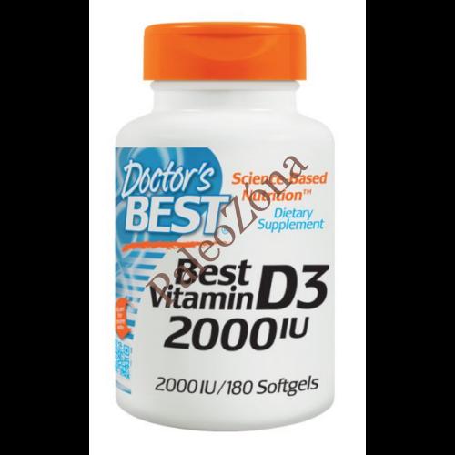 Doctor's Best Vitamin D3 2000IU 180db