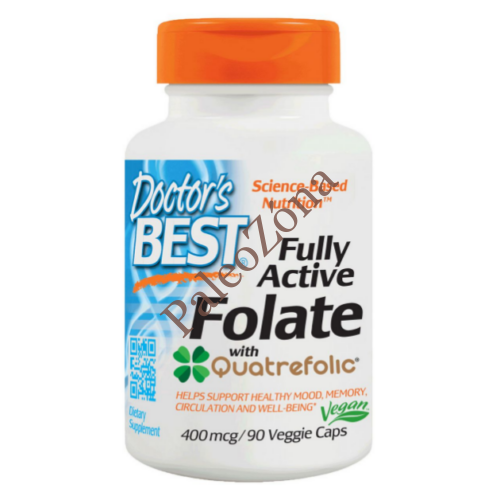 Doctor's Best Fully Active Folate 400mcg / 90db