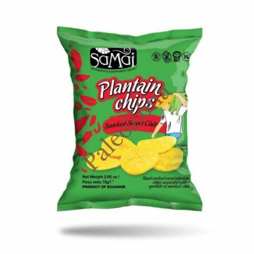 Plantain (főzőbanán) chips édes chilli 75g - Samai