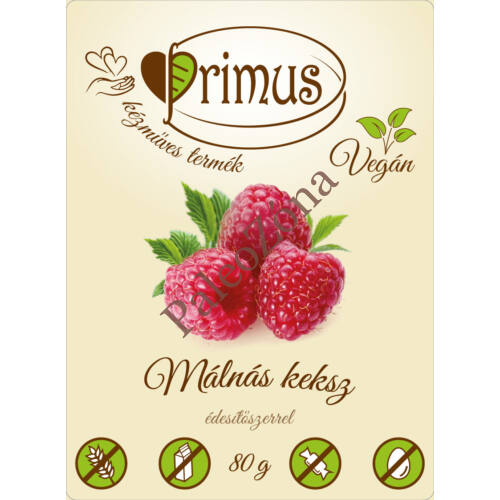 Málnás keksz 80g- Primus