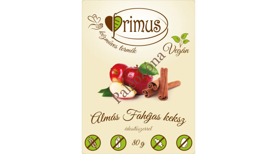 b02d6b08fa Fahéjas almás keksz 80g - Primus - Paleo webshop - paleozona.hu ...